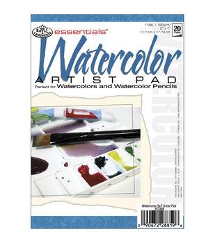 "Royal Brush Essentials Watercolor Paper Pad 5""X7""-20 Sheets"