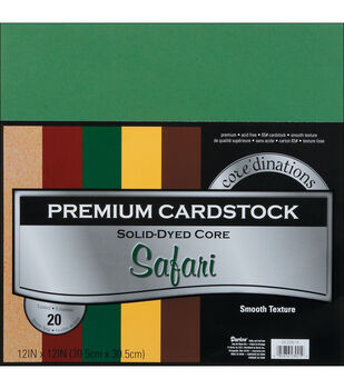 "Core'dinations Value Pack Cardstock 12""X12"" 20/Pkg-Safari-Smooth"