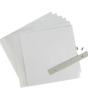 8''x8'' Top-Loading Page Protectors-6PK