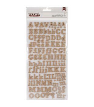 American Crafts DIY Thickers Alphabet Stickers Eric Burlap
