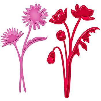 Spellbinders Shapeabilities Die D-Lites-Asters&Poppies