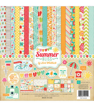 Echo Park Paper 12X12in - Summer Bliss Collection Kit