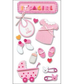 Jolee's Layered Foam Stickers-Baby Girl