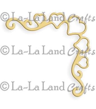 """La-La Land Die-Heart Ribbon Corner, 1.75""""X1.75"""""""