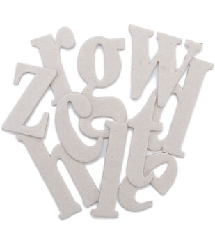 Maya Road Chipboard Set Lisa Lowercase Alphabet