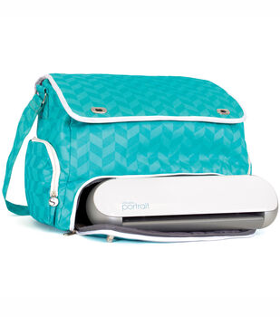 Silhouette America Inc Portrait Rolling Tote Teal