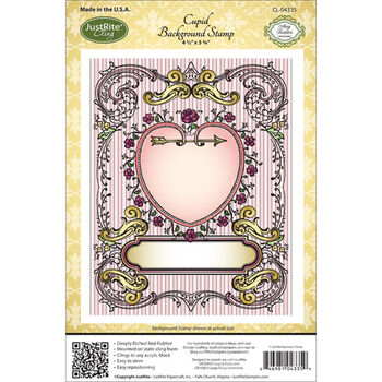 Justrite Stampers Cling Background Stamp Cupid