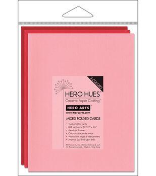 Hero Arts 5-1/2''x4-1/4'' Folded Cards-12PK/Blush Mix
