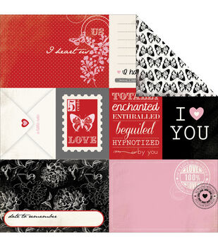 """Words Of Love Double-Sided Cardstock 12""""X12""""-Journaling Cards"""