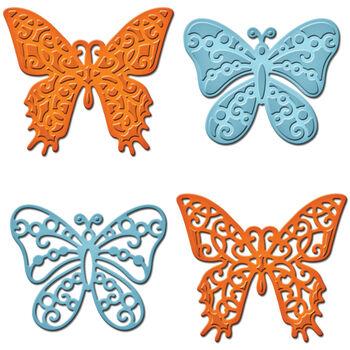 Spellbinders Shapeabilities Dies-Les Papillons