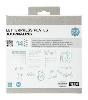 Lifestyle Letterpress Plates-Journaling
