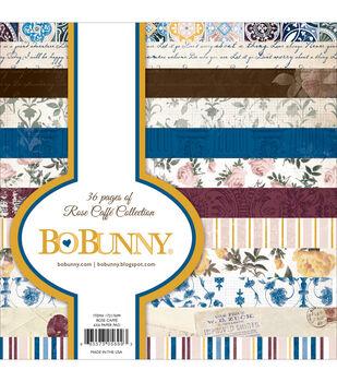 Bo Bunny Rose Cafe Paper Pad 6''x6''
