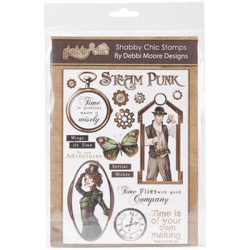 Debbi Moore Designs Shabby Chic Clear Stamp Set Steam punk