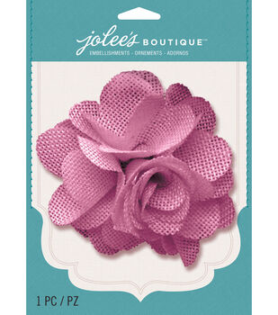Jolee's Boutique - Rose Burlap Large Flower