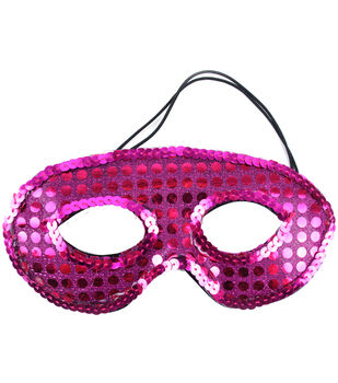 Midwest Design Designer Half Mask With Sequins