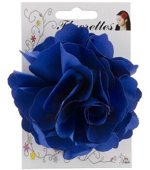 Fluerettes Basic Satin Flower 1/Pkg-Royal Blue