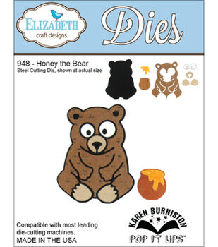 Elizabeth Craft Designs Honey The Bear Dies