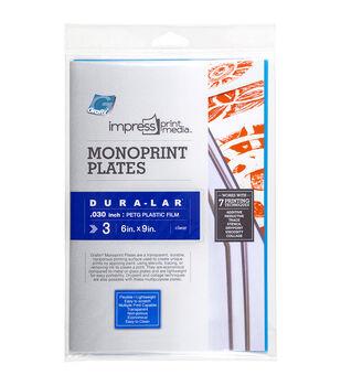 "Impress Monoprint Plates 3/Pkg-6""X9"""