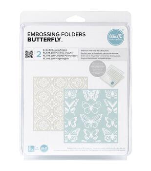 """Goosebumpz 6""""X6"""" Embossing Folder 2/Pkg-Butterfly"""