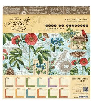 "Graphic 45 Paper Pad 8""X8"" 24/Pkg-Time To Flourish Calendar"