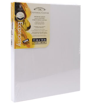 """Winsor & Newton Universal Stretched Canvas Twin Pack 11""""x14""""-12""""x14"""""""