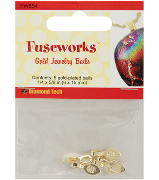 Diamond Tech Crafts Fuseworks Jewelry Findings-Small Bail 5PK Many Colors
