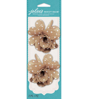 Jolee's Boutique - Polka Dot Burlap Flowers