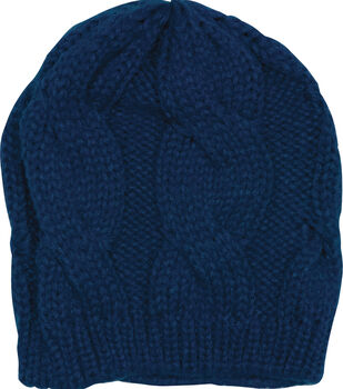 Laliberi Winter Knit Cobalt Crochet Cap