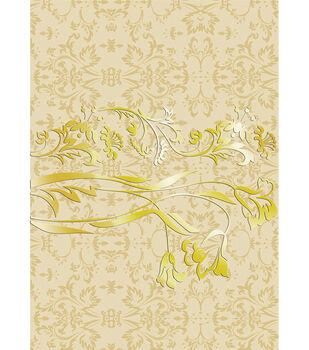 Kanban Vintage Hvywt Bkrnd Card Sheet-Metallic Glaze Salerno Beige
