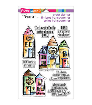 "Stampendous Perfectly Clear Stamps 4""X6"" Sheet-Family Home"