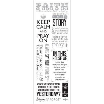 Momenta Vellum Stickers Sheet Faith
