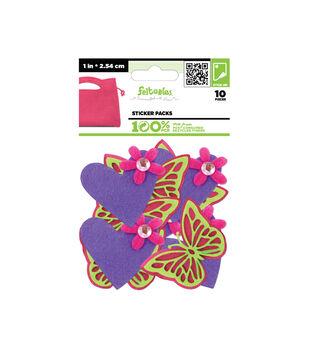 Felt Sticker Packs-Butterfly Love-10 pcs./Pack