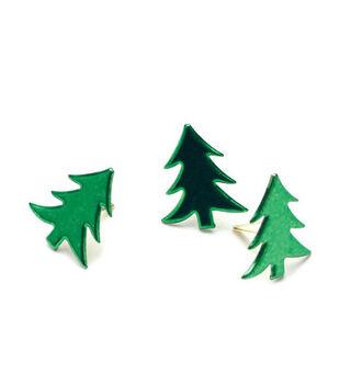 Painted Metal Tree Paper Fasteners-50PK/Metallic