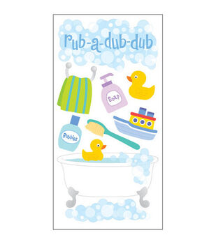 Sandylion Dimensional Stickers-Bath Time