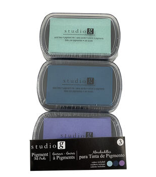 Hampton Art Pigment Ink Pads 3/Pkg-Cool