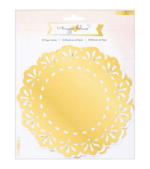 Crate Paper Maggie Holmes Open Book White & Gold Paper Doilies