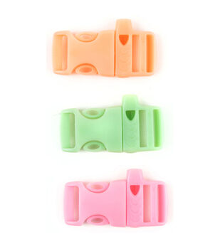 Midwest Design- Glow In The Dark Buckle W/Whistle-Pink, Green And Orange