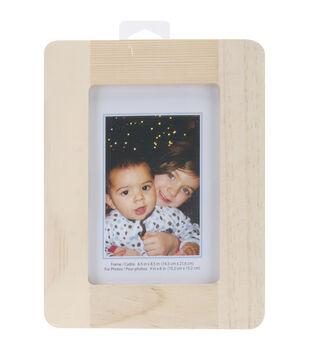 "Natural Pine Photo Frame-6.5""X8.5"""