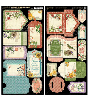 Time To Flourish Cardstock Die-Cuts -Tags & Pockets