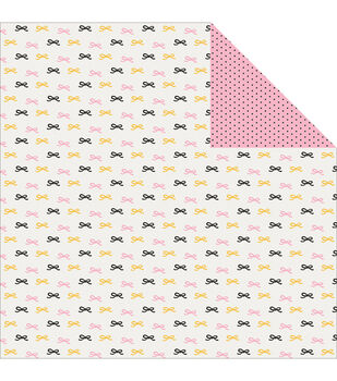 Pink Paislee Bella Rouge Pretty Bows Double-Sided Cardstock