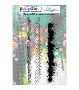 Indigoblu Rugged Edge Cling Mounted Stamp