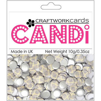 Craftwork Cards Candi Dot Printed Embellishments Earl Grey