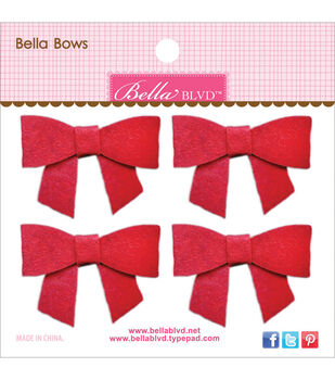 Bella Blvd Bella Felt Bows 2''x1.5''