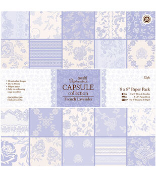 Papermania French Lavender Capsule Paper Pack 8''x8''