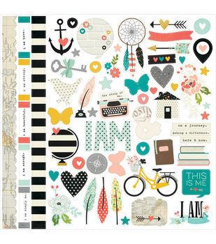Simple Stories I Am Cardstock Fundamental Stickers