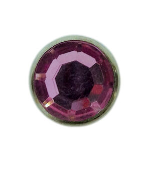 "Jewel Spots, 3/8"", Pink, 10/pk"