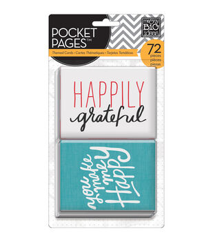 """Me & My Big Ideas Pocket Pages Themed Cards 3""""X4"""" 72/Pkg-I Love Life"""