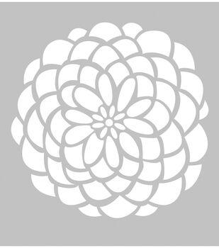 FabScraps Plastic Desert Rose Stencil