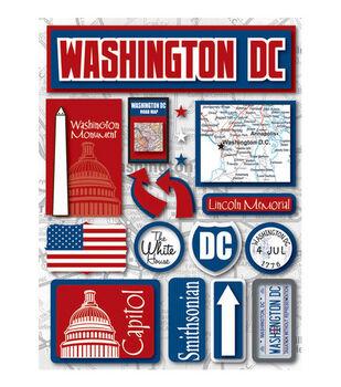 Reminisce Dimensional Stickers-Washington D.C.