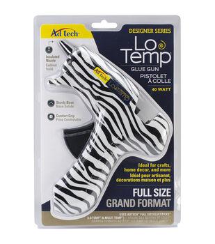 Full Size Glue Gun-White Zebra